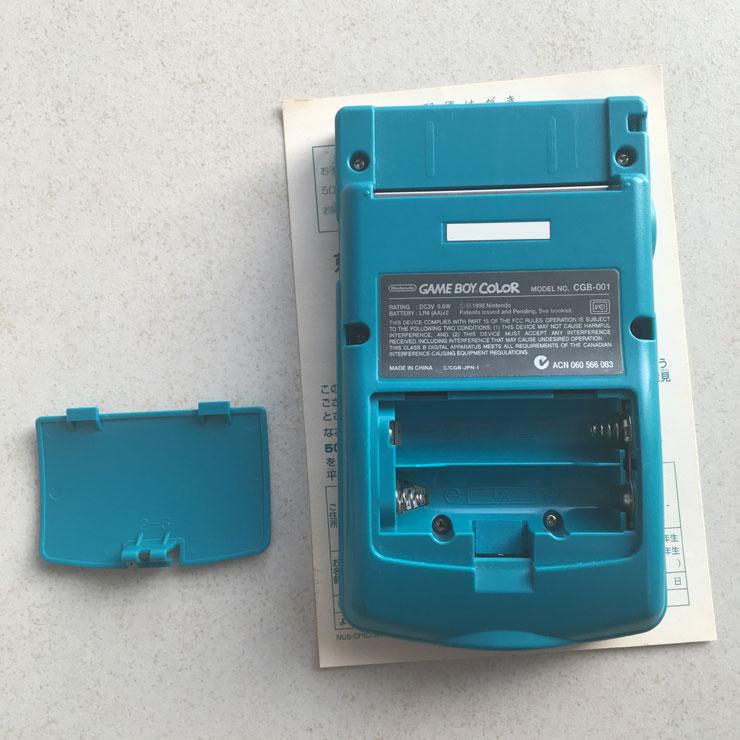 GameBoy Color - Back